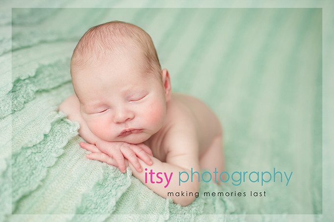 Newborn photographer, baby photography, infant photography, newborn boy, baby wrapping, newborn posing ideas, mint backdrop, head on hands pose,