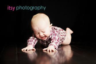 baby photographer, newborn photographer, infant photographer, dc photographer, 1 year old one year old posing ideas, sad, mad, black backdrop, plaid shirt
