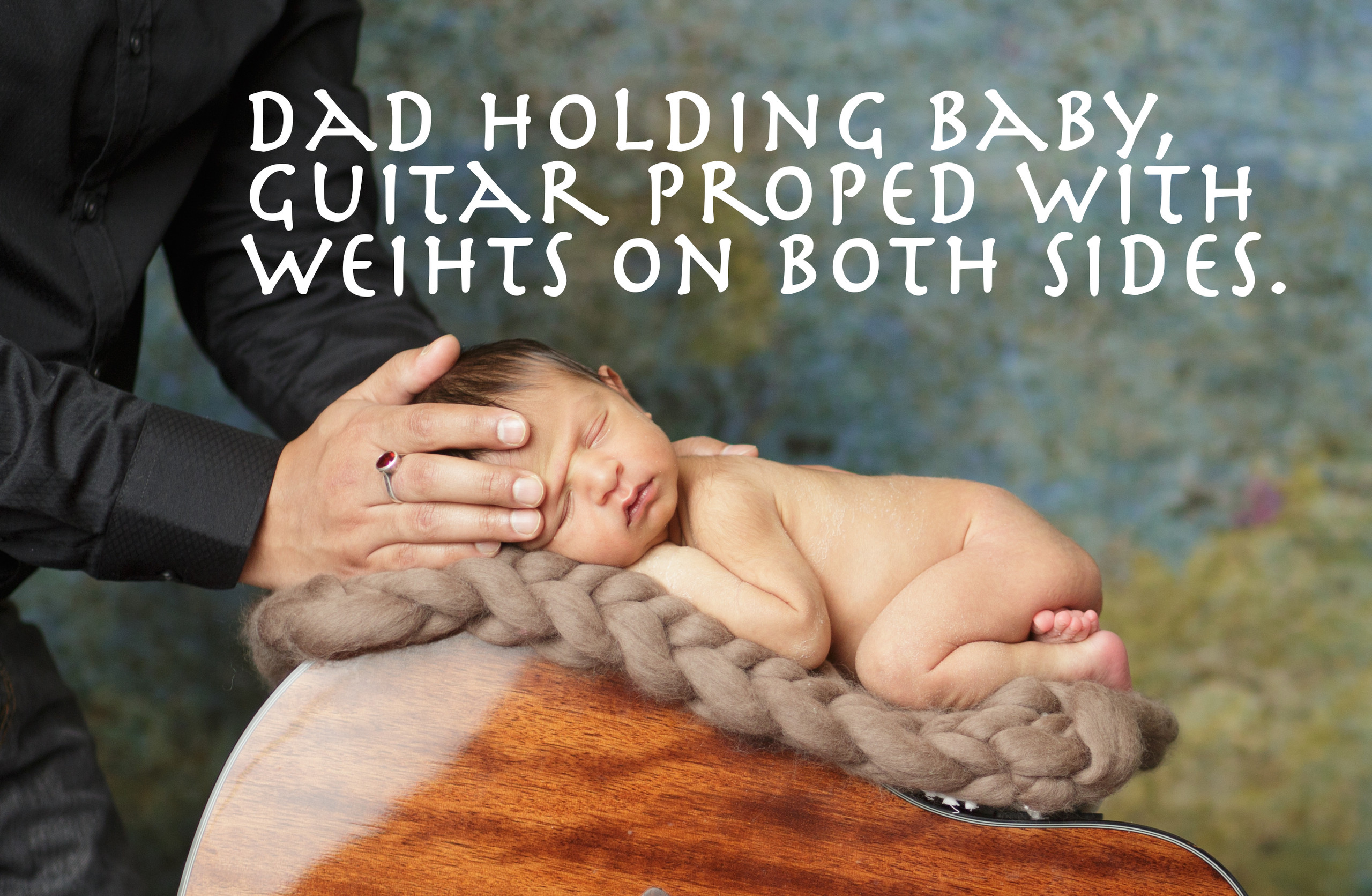 Newborn photographer, baby photography, infant photography, newborn  photography tutorial, guitar, baby on guitar, dad,