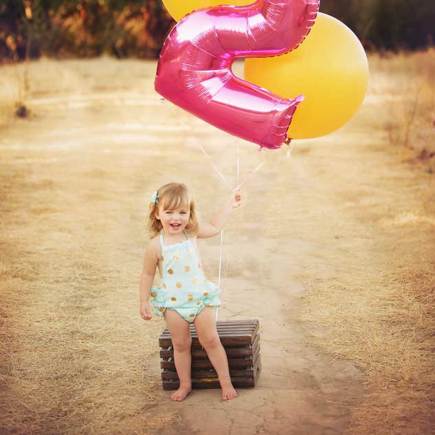 little girl cute outside balloon 2 birth