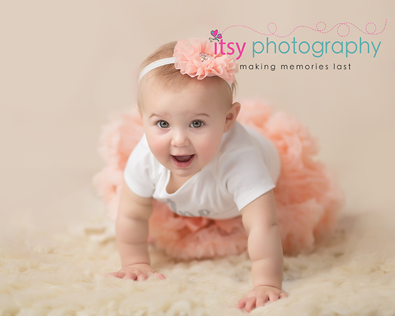 Newborn photographer, baby photography, infant photography, One year old, Sitter Session, pink tutu, lace, happy birthday, cake smash, pink flower headband, sucking thumb, baby girl, cream backdrop