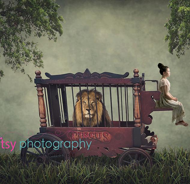 Abigail w Vintage Circus Lion.png