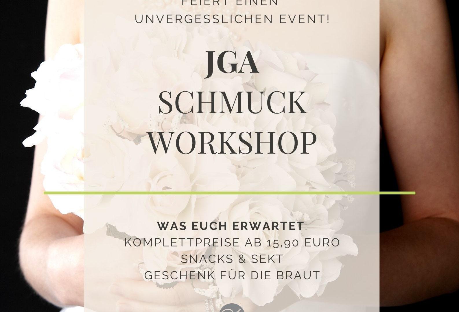 Junggesellinnenabschied (JGA) in Bonn/Köln. Unsere Junggesellinnen und Bräute kommen aus NRW und ganz Deutschland zu unseren kreativen Schmuck Workshops.