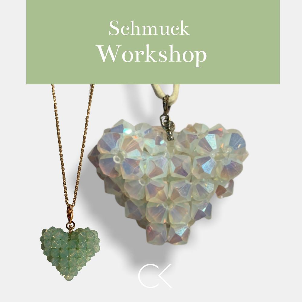Schmuck Workshop: Ein knuffiges Herz als JGA, Event, Geburtstag, im Großraum Bonn, Köln, Düsseldorf, Siegen, NRW und Koblenz