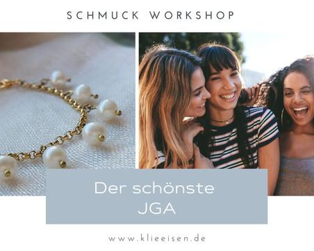 JGA Düsseldorf trifft Bonn! Kreativer und stilvoller Junggesellinnenabschied als Schmuck Workshop