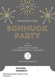 Schmuck Party Einladungskarten im Atelier Christiane Klieeisen in Nordrhein-Westfalen
