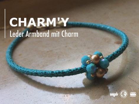Lederarmband Charm-Y aus dem Atelier Christiane Klieeisen