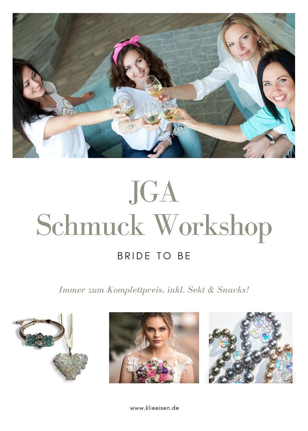 JGA Düsseldorf und Köln feiert in Bonn mit einem glamourösen und stilvollem Schmuck Workshop