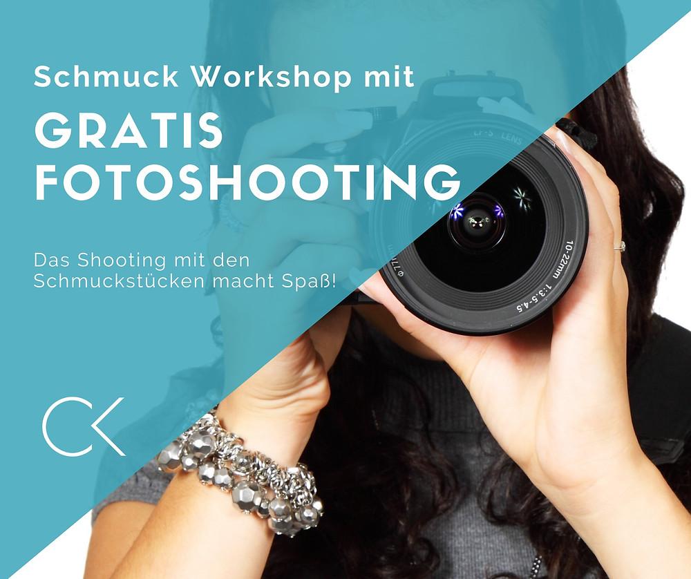 JGA Düsseldorf freut sich auf ein gratis Fotoshooting mit Schmuck Workshop in Bonn.