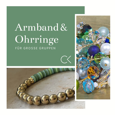Schmuck Workshop Idee-39: Armband & Ohrringe