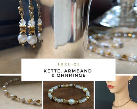 Schmuck Workshop Idee-21: Kette, Armband & Ohrringe