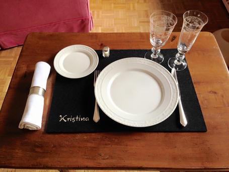 Filzset - Tischset