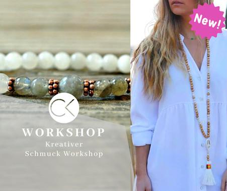 Schmuck Workshop: Kette Mala-Style