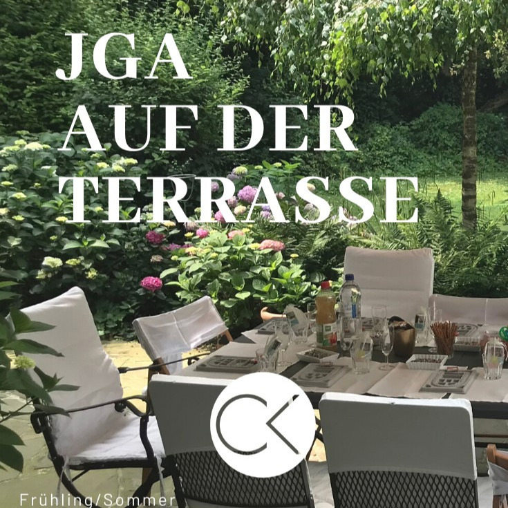 Junggesellinnenabschied (JGA) kreativ auf der Atelier-Terrasse in Bonn