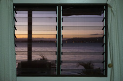 Sundown through the window