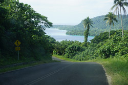 On the road to Port Olry