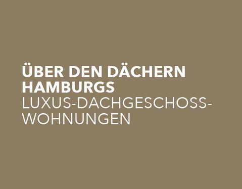 2 Luxus-Eigentumswohnungen mit Blick über den Alsterlauf und den Hayns Park.  Dachgeschossausbau in einem Wohn- und Geschäftshaus in Hamburg-Eppendorf.