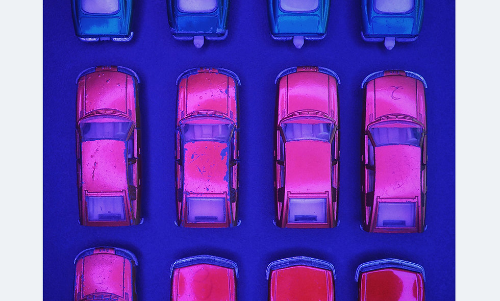 Matchbox 3 x 4 // blue // Acrylglas