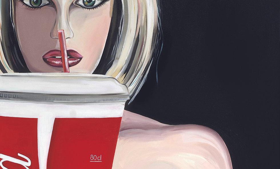 """Coke, please""  // Acrylglas"