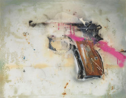 Trigger, 75 : 95 cm, varnish on fibergla
