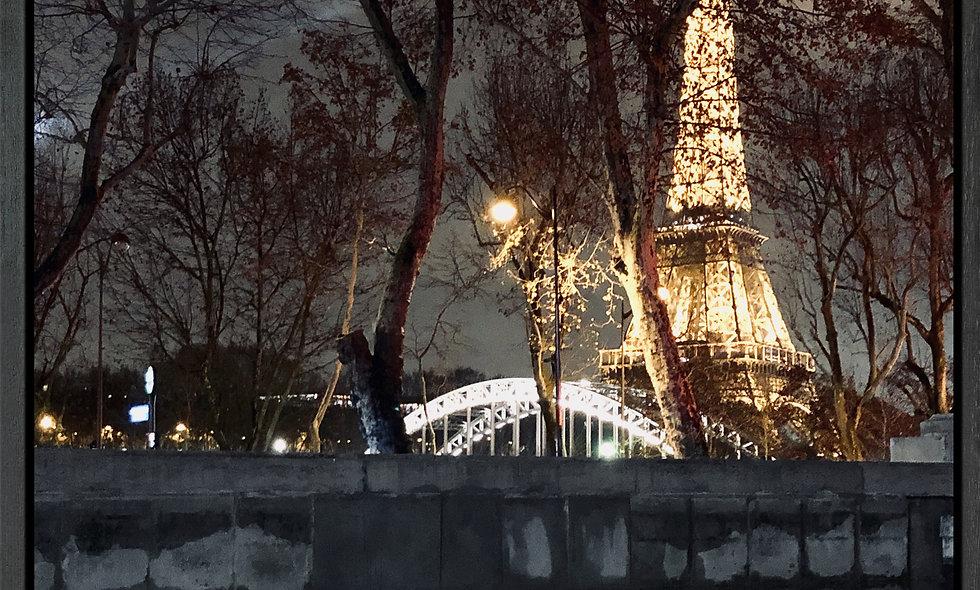 Paris II black // Fotografie auf Leinwand gerahmt // 80 x 80 cm