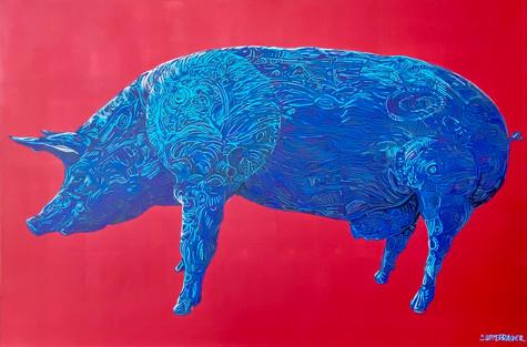 Urban Zoo | Blue Pig