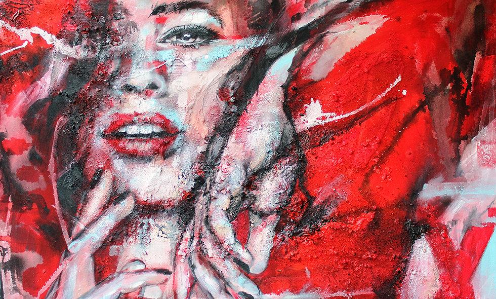 Pure Präsenz | Struktur, Spray & Acryl  auf Leinwand | 100 x 120 cm