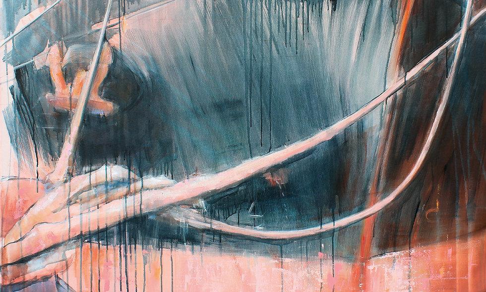 Hafen Rosarot 1 | Acryl auf Leinwand/Keilrahmen | 100 x 120 cm