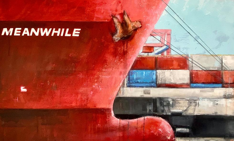 Meanwhile | Acryl auf Leinwand | 100 x 140 cm