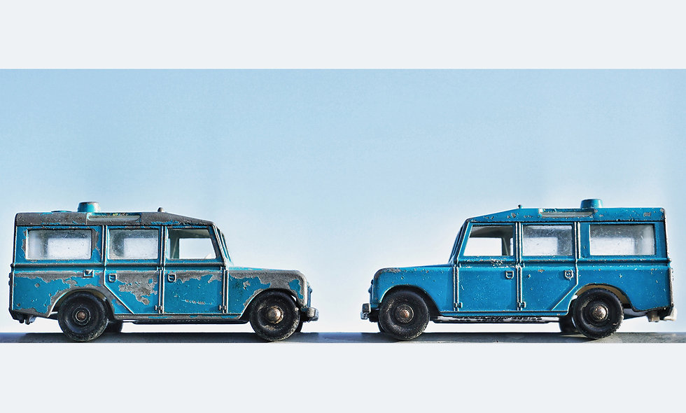 Matchbox Duo // Landrover // Acrylglas