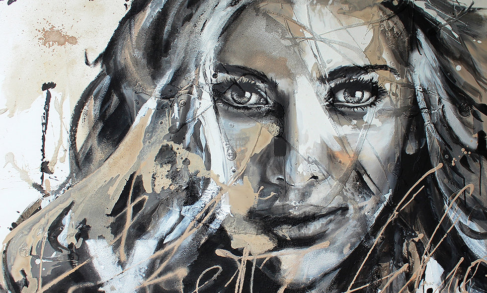 Be Queen | Struktur, Spray & Acryl  auf Leinwand | 100 x 120 cm