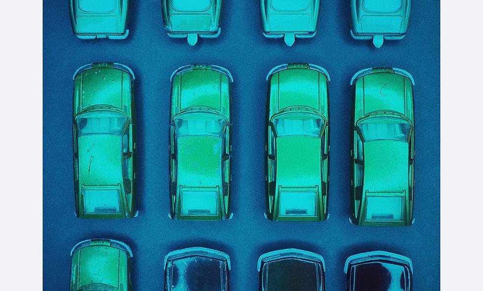 Matchbox 3 x 4 // petrol // Acrylglas