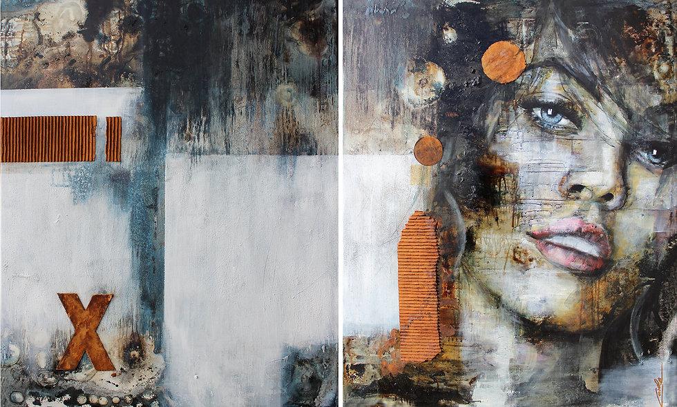 Vage Erinnerung | Diptychon | 100 x 160 cm