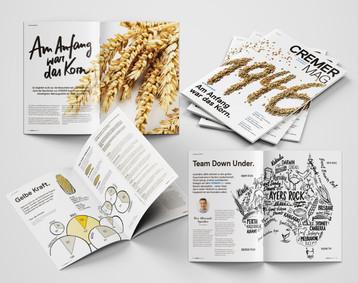 CREMER MAG Konzeption, Kreation und Realisation eines Kundenmagazins