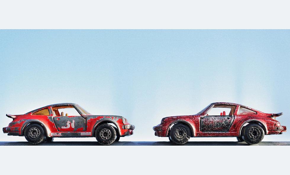Matchbox Duo // Porsche 911 // Acrylglas