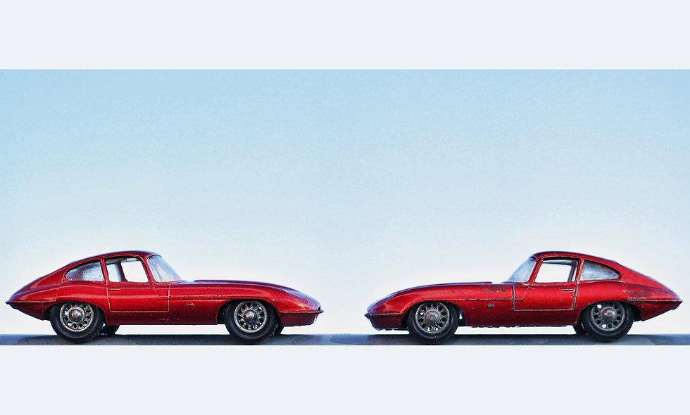 Matchbox Duo // Jaguar E-Type // Acrylglas