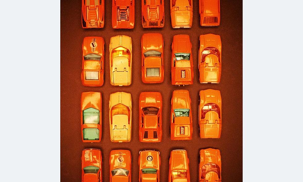 Matchbox 6 x 5 | orange | Acrylglas | limitierte Auflage | 180 x 81 cm