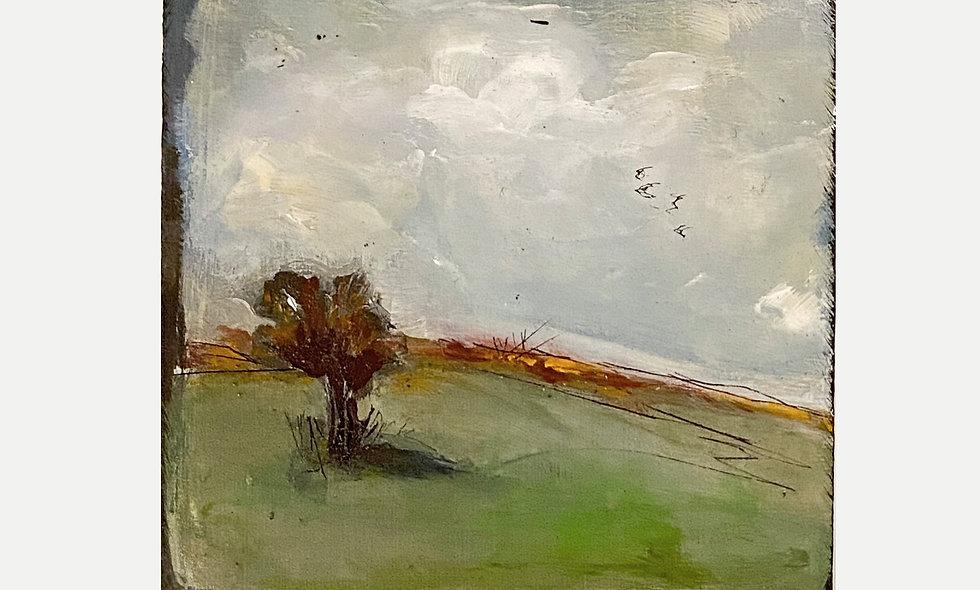 Kunst in kleinen Dosen | Acryl auf Holz | 10 x 10 cm