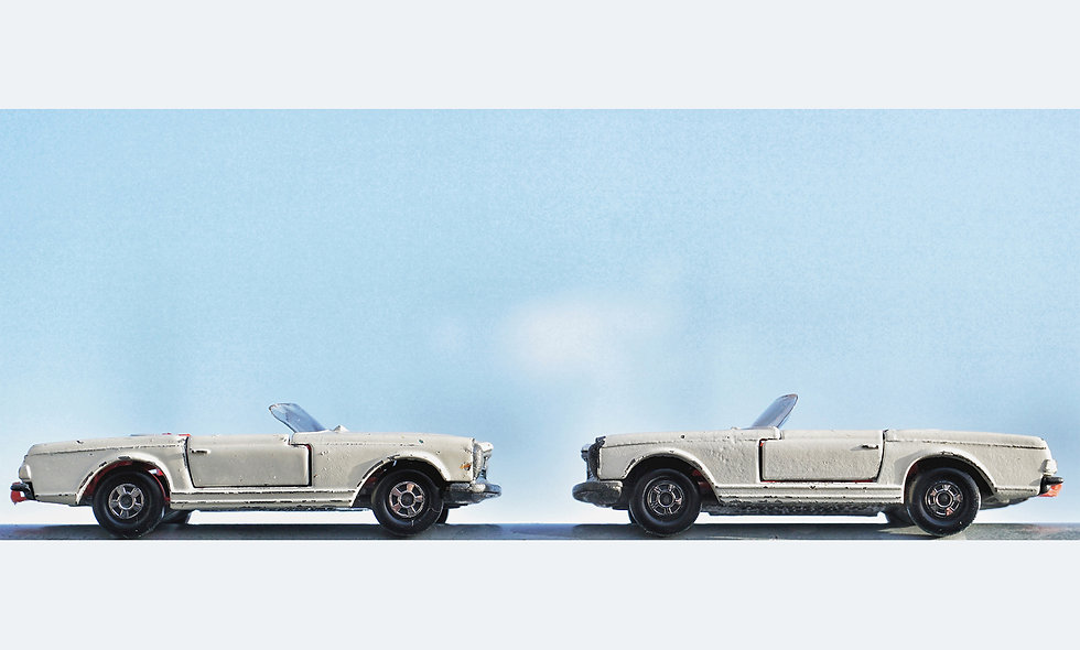 Matchbox Duo // Mercedes // Acrylglas