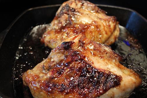 Peach Preserves Glazed Chicken Breasts