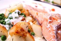 Salmon Filet with Veggies and Cream