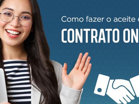 Aprenda como fazer o aceite do contrato online.