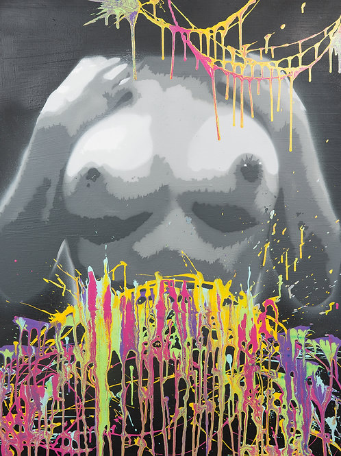STAY WITH ME  - Spraypaint & Acrylic on Canvas