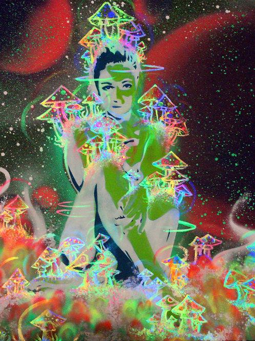 ALUMNIA - Spray &Uv Acrylic on canvas