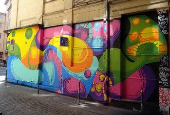 Fresque à l'Hôtel de Ville / Lyon
