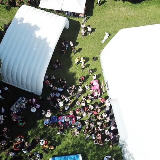 The crowds assemble