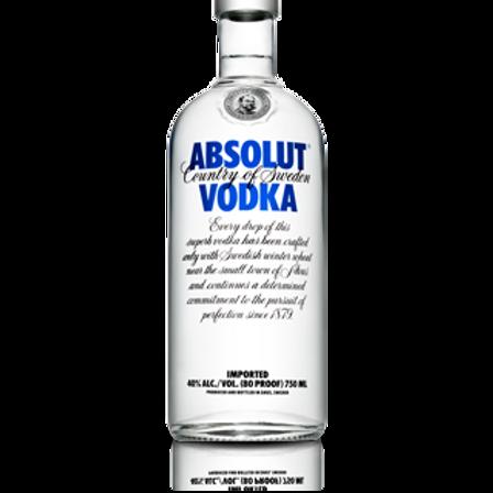 Absolut Vodka size 1.75