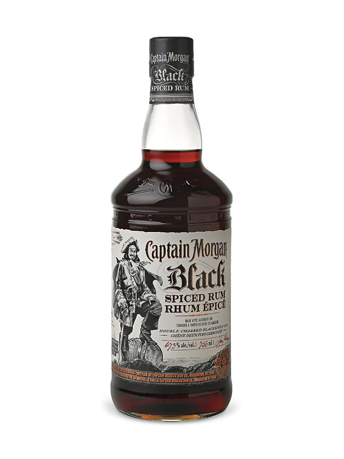 Captain Morgan Black Spiced Rum size 750