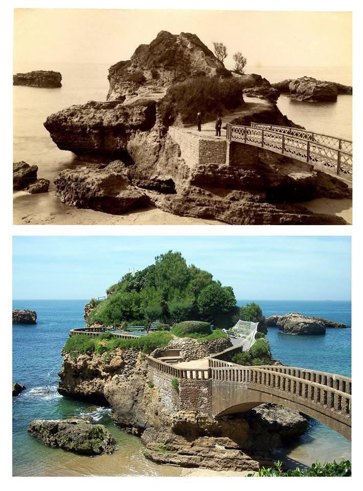 Rocher du Basta antes y después de 1938