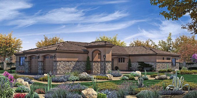 Tuscan villa style new home San Diego